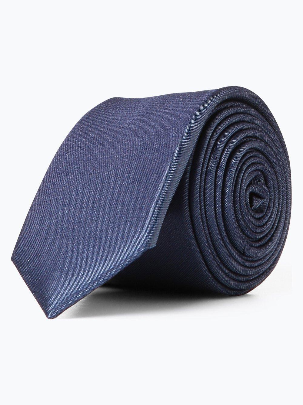 Olymp Level Five – Krawat jedwabny męski, niebieski Van Graaf 388062-0004-00000
