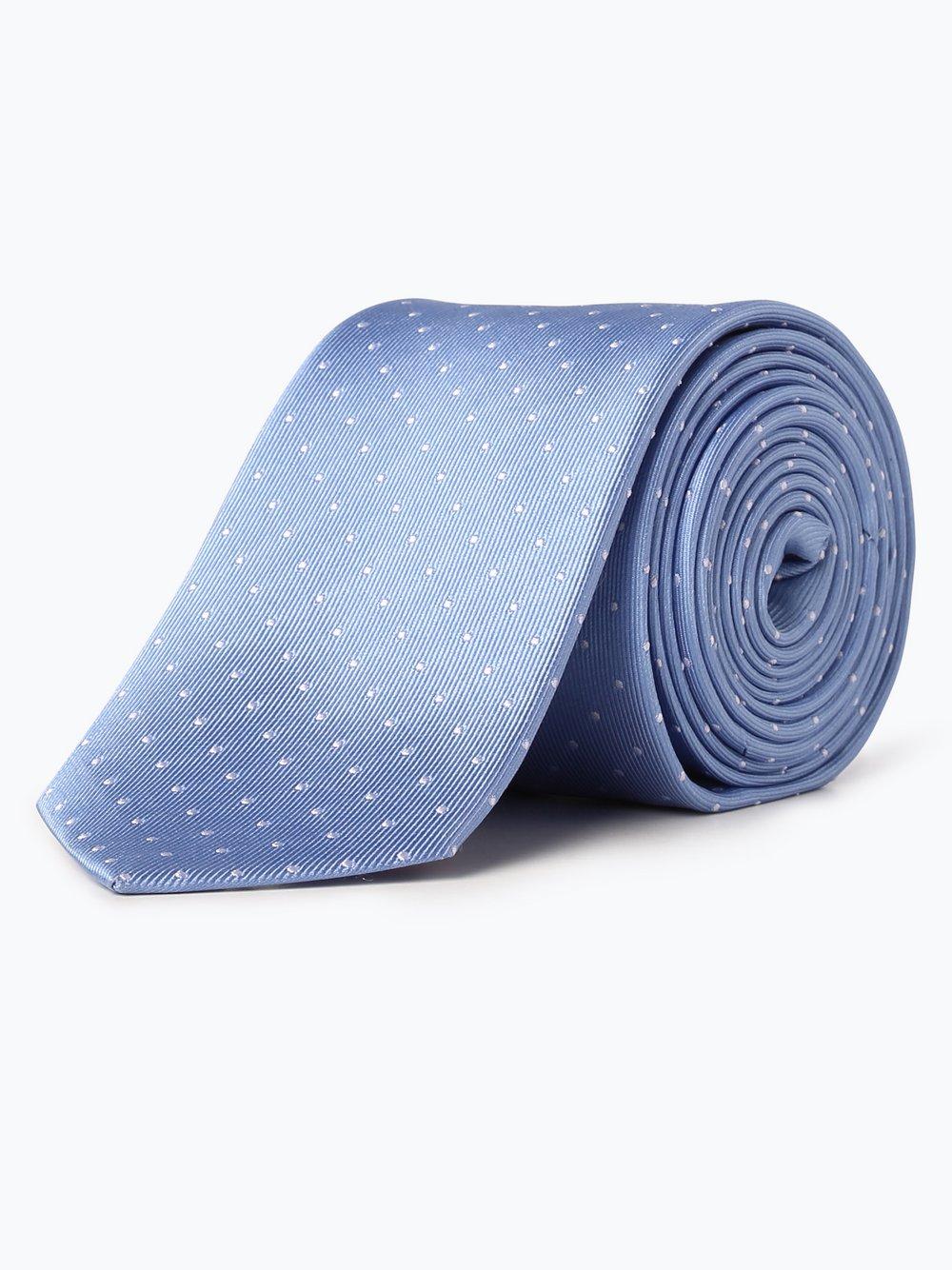 OLYMP Luxor modern Fit – Krawat jedwabny męski, niebieski Van Graaf 391732-0006-00000