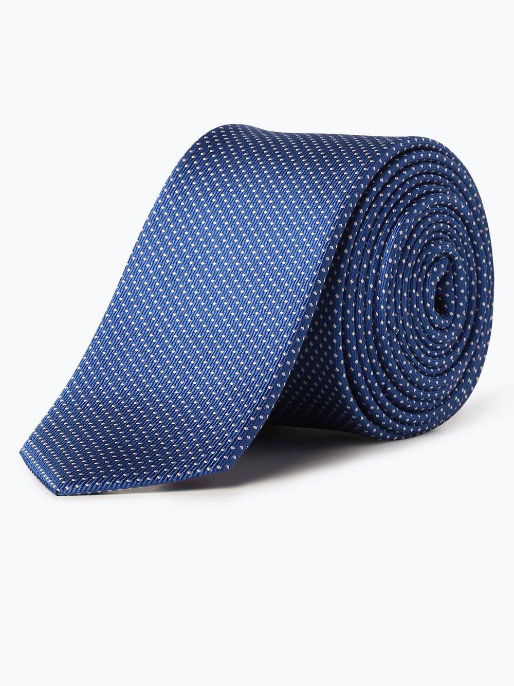 Olymp Level Five – Krawat jedwabny męski, niebieski Van Graaf 391756-0003