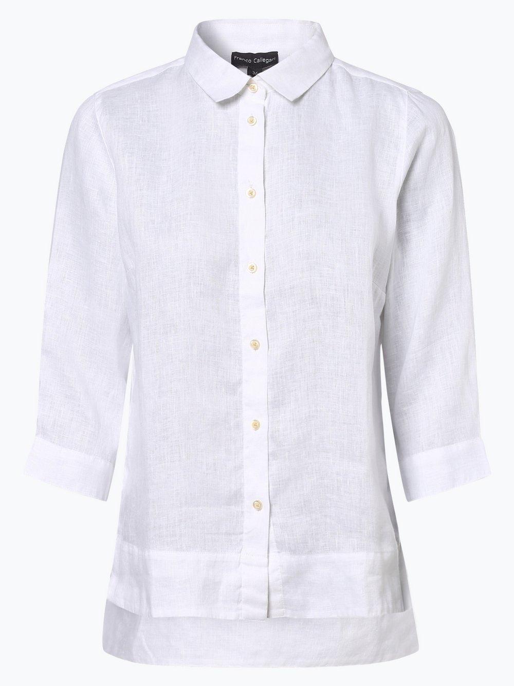 Franco Callegari - Bluzka damska z lnu, biały