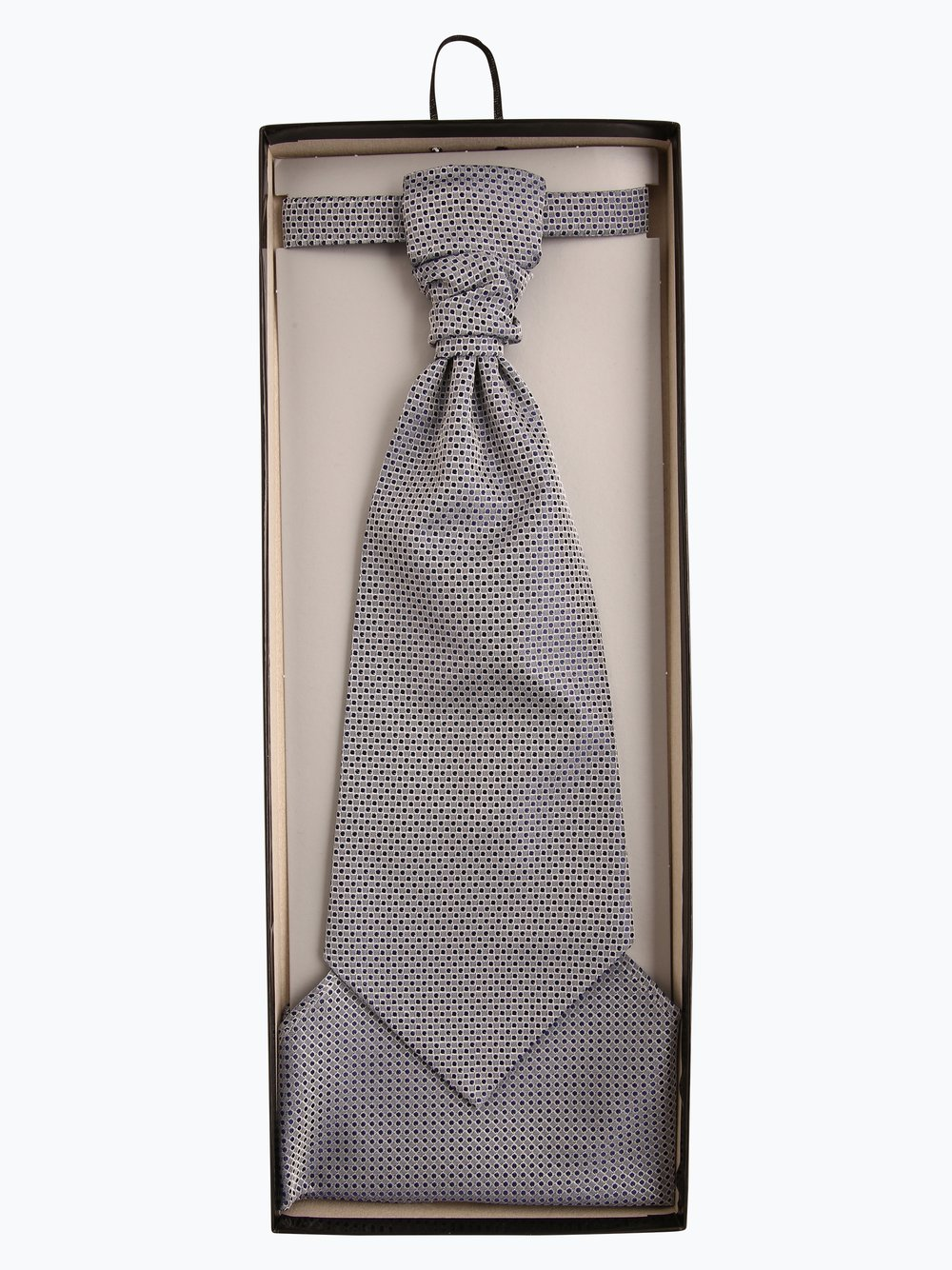 Wilvorst - Krawat męski i poszetka, niebieski