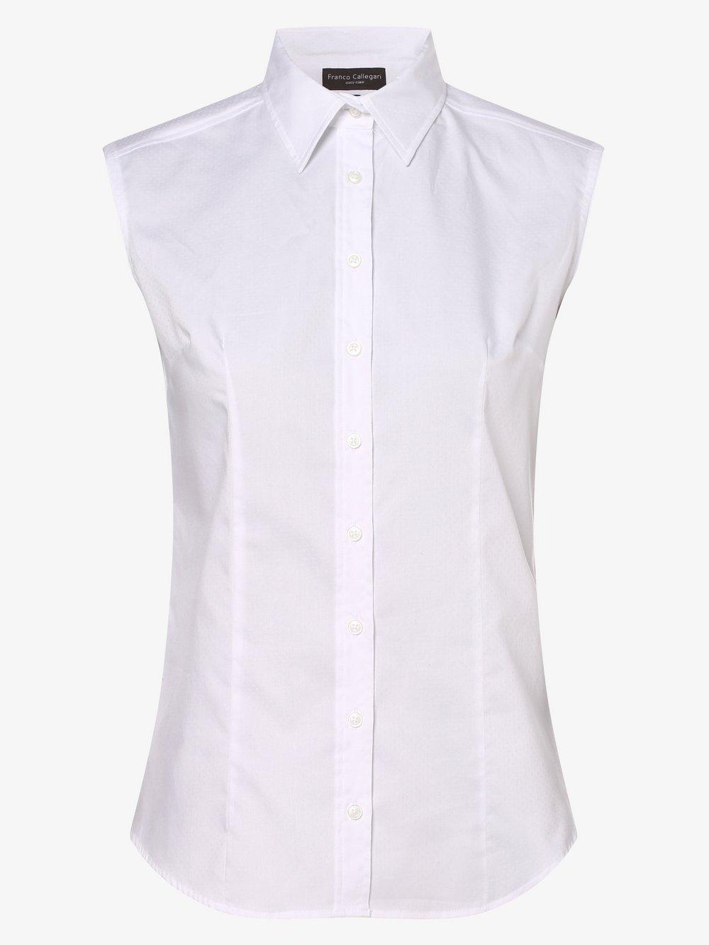 Franco Callegari – Damska bluzka bez rękawów, biały Van Graaf 394801-0007