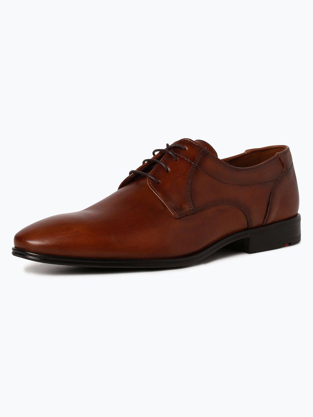 Lloyd – Męskie buty sznurowane ze skóry – Osmond, beżowy Van Graaf 394814-0003