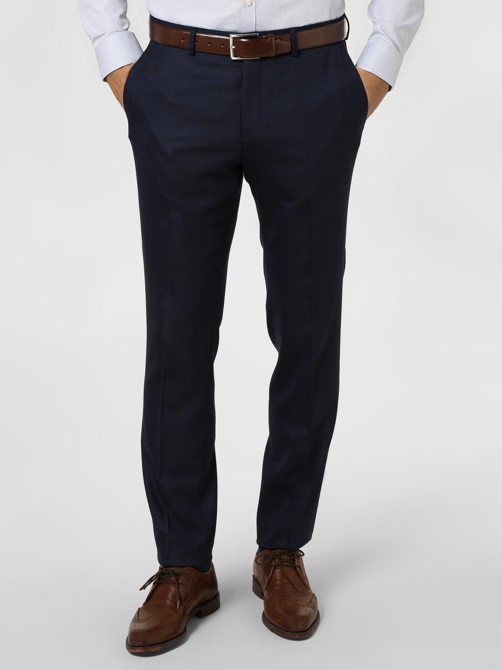Tiger of Sweden – Męskie spodnie od garnituru modułowego – Gordon, niebieski Van Graaf 396801-0001