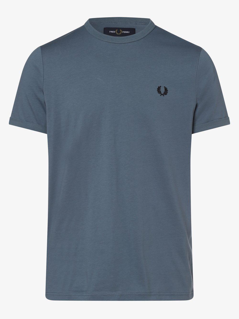 Fred Perry – T-shirt męski, niebieski Van Graaf 398900-0008