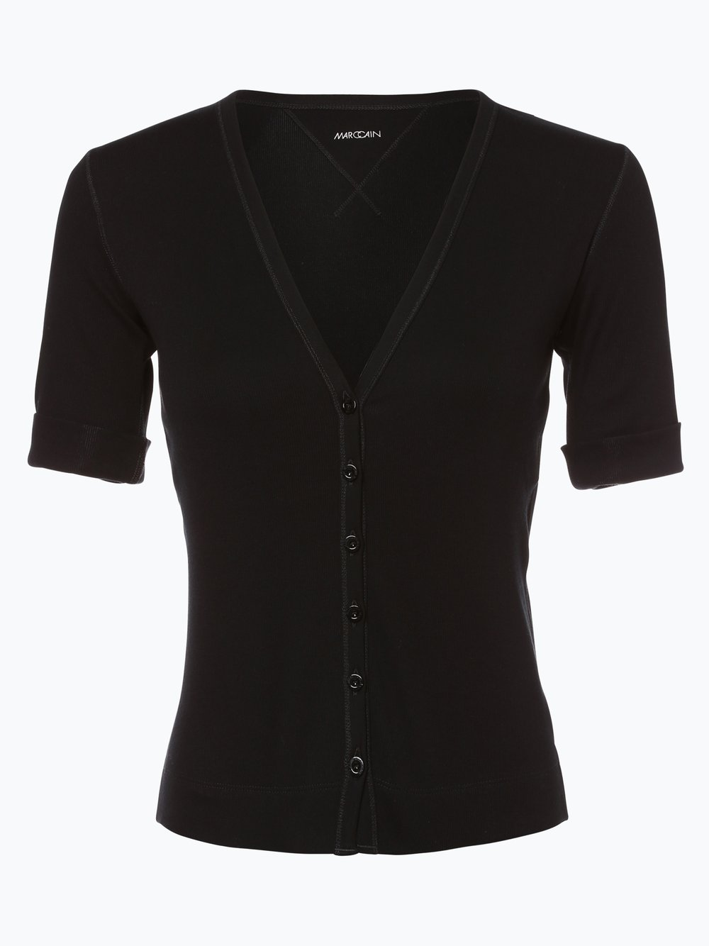 Marc Cain Essentials - Damska bluza rozpinana, czarny