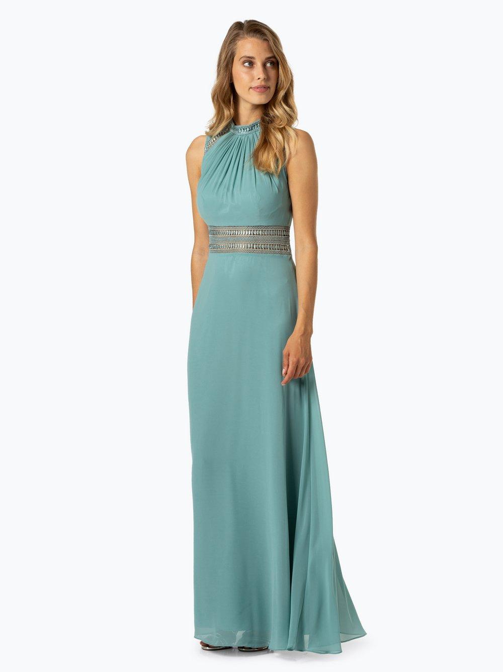VM – Damska sukienka wieczorowa, zielony Van Graaf 405463-0004-00420