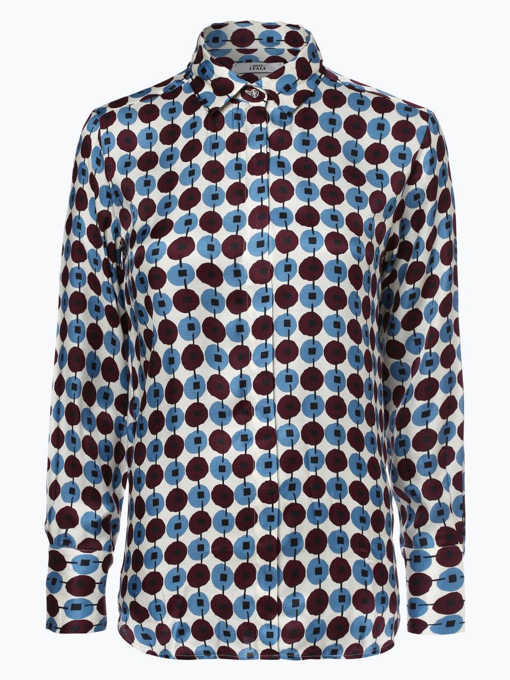 Obraz przedstawiający 0039 Italy - Bluzka damska z dodatkiem jedwabiu, czerwony