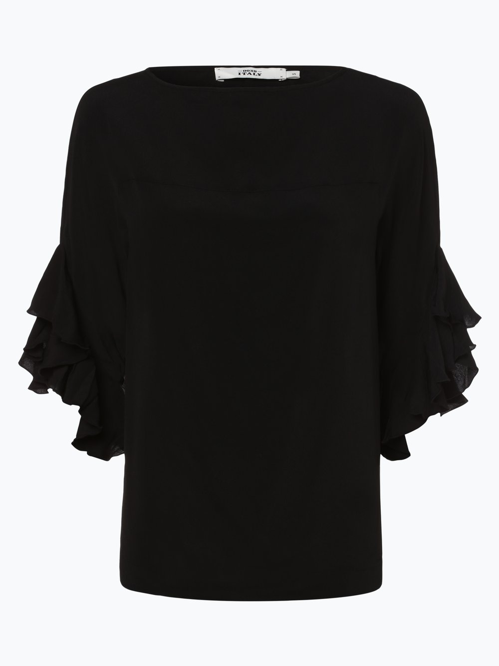 Obraz przedstawiający 0039 Italy - Bluzka damska z dodatkiem jedwabiu – Kimmy Frill, czarny
