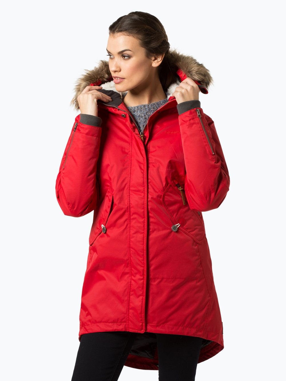 Didriksons – Damski płaszcz funkcyjny – Lindsey, czerwony Van Graaf 411947-0002