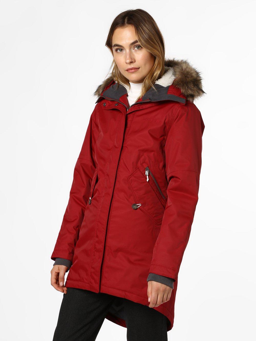 Didriksons – Damski płaszcz funkcyjny – Lindsey, czerwony Van Graaf 411949-0003-00340