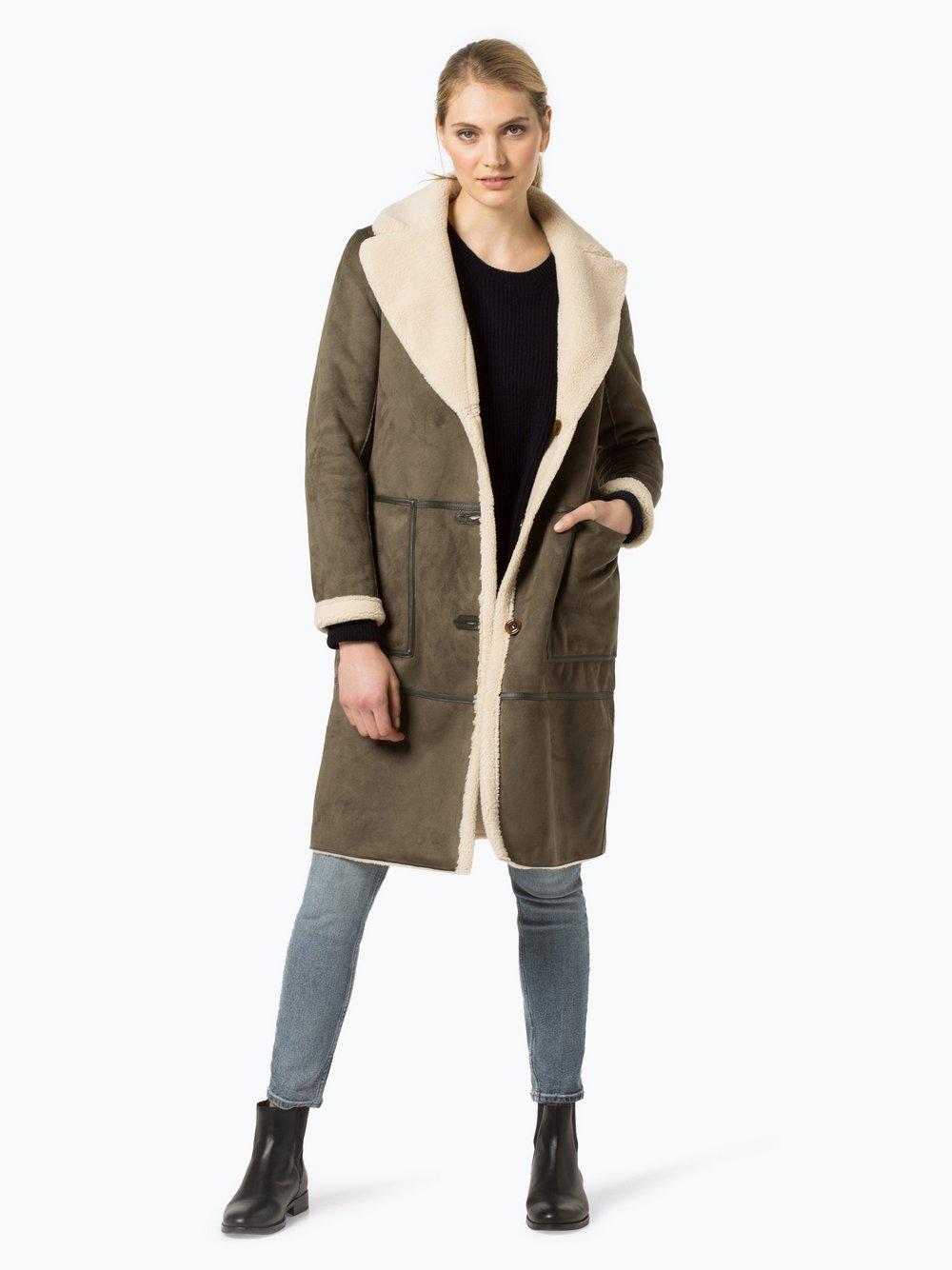 Marie Lund - Damski płaszcz dwustronny, zielony