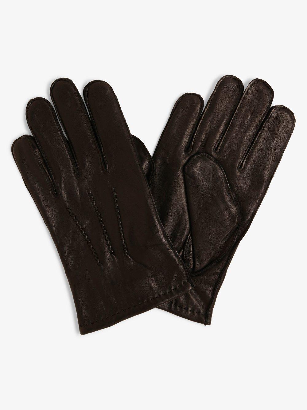 James – Skórzane rękawiczki męskie, czarny Van Graaf 413137-0001