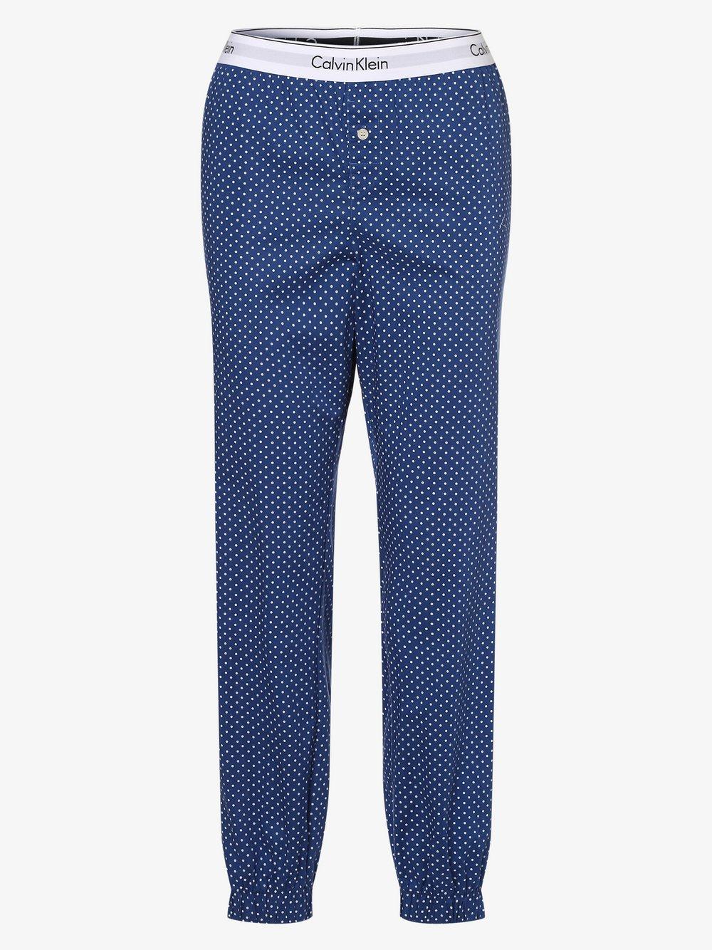 Calvin Klein - Damskie spodnie od piżamy, niebieski