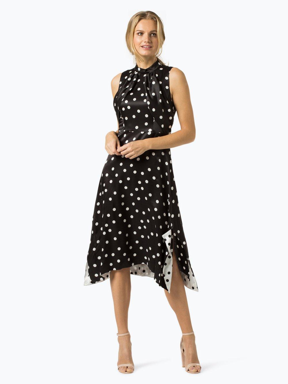 HUGO - Sukienka damska z domieszką jedwabiu – Kamali-1, czarny