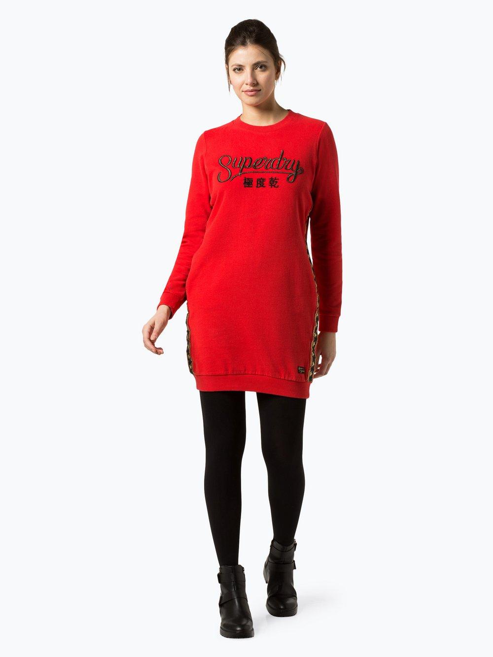 Superdry - Sukienka damska, czerwony