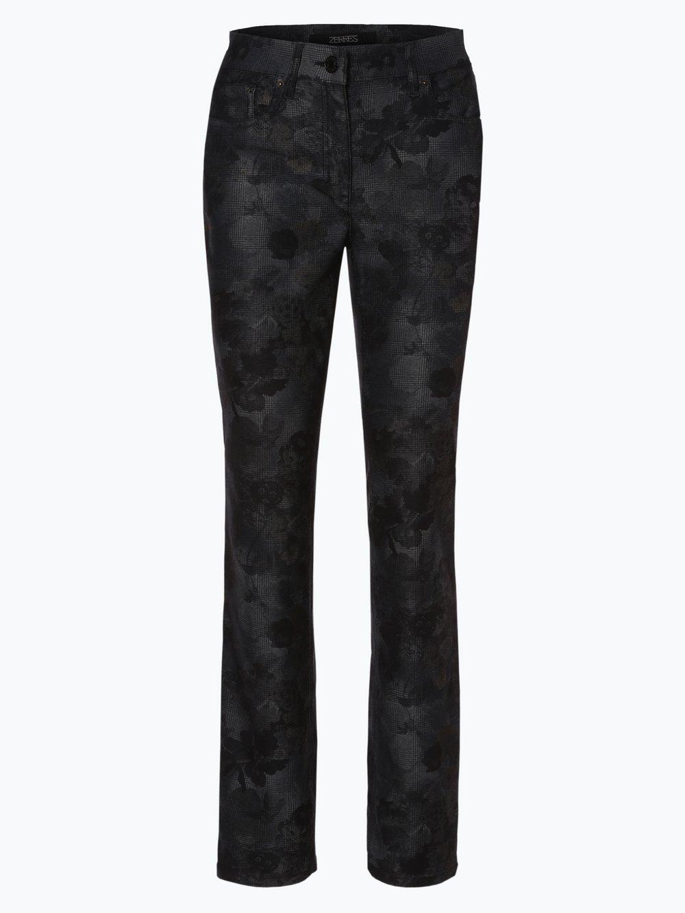 Zerres – Spodnie damskie – Comfort S, szary Van Graaf 418765-0002-00400