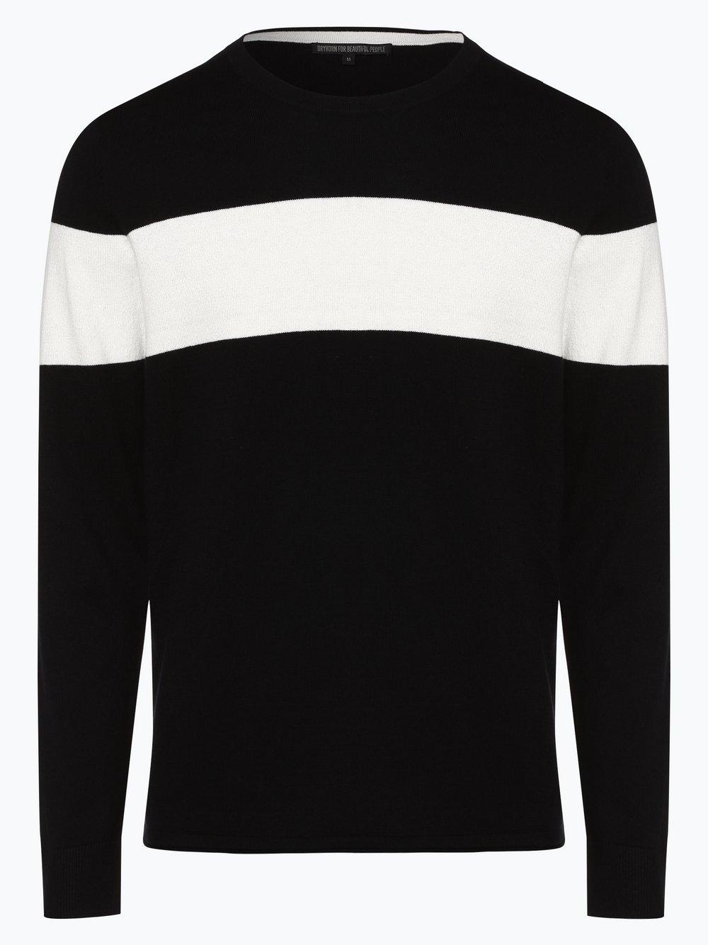Drykorn - Sweter męski z dodatkiem kaszmiru – Clin, czarny