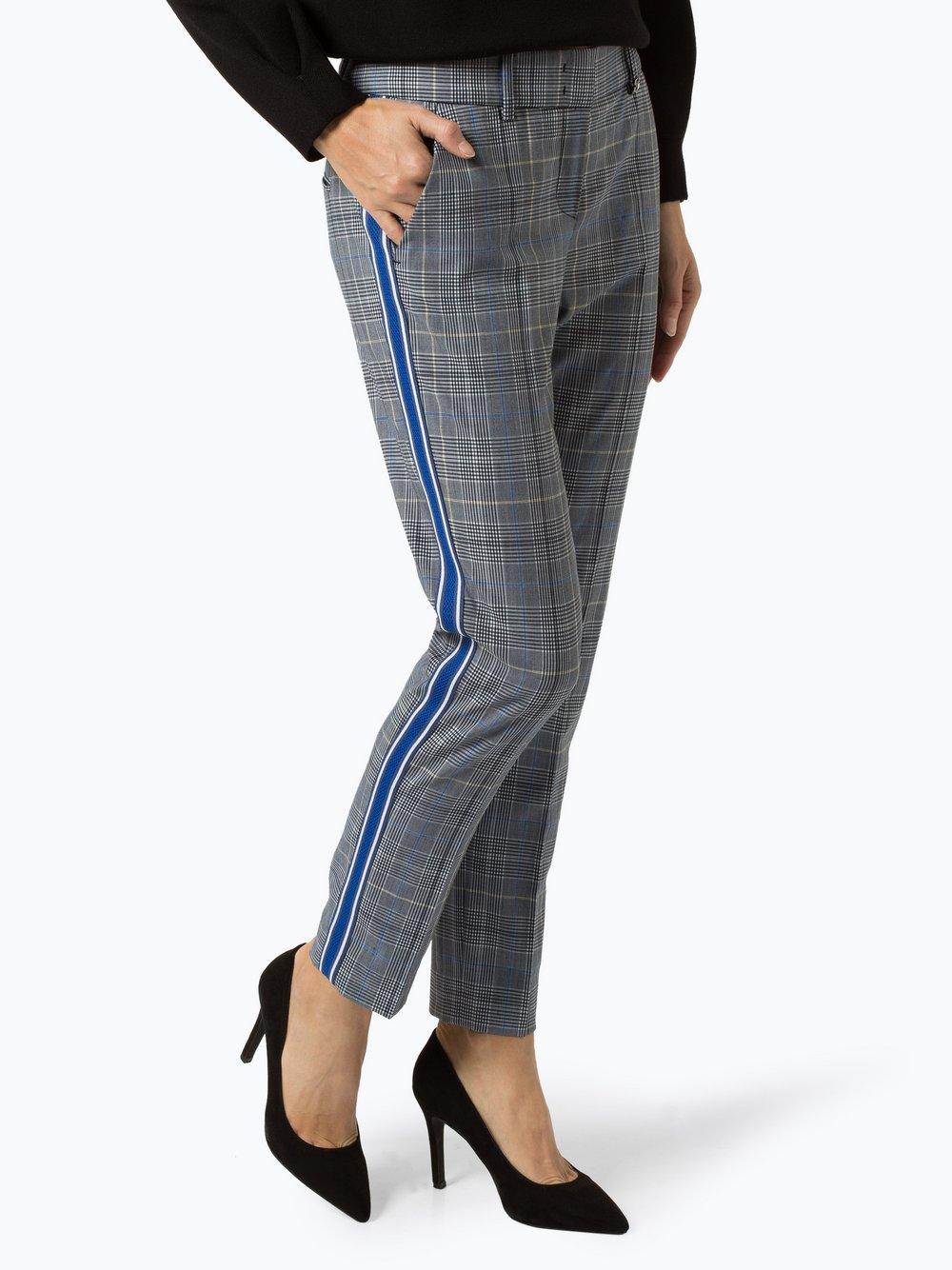 RAFFAELLO ROSSI – Spodnie damskie – Dora Stripe, niebieski Van Graaf 419244-0001-00380