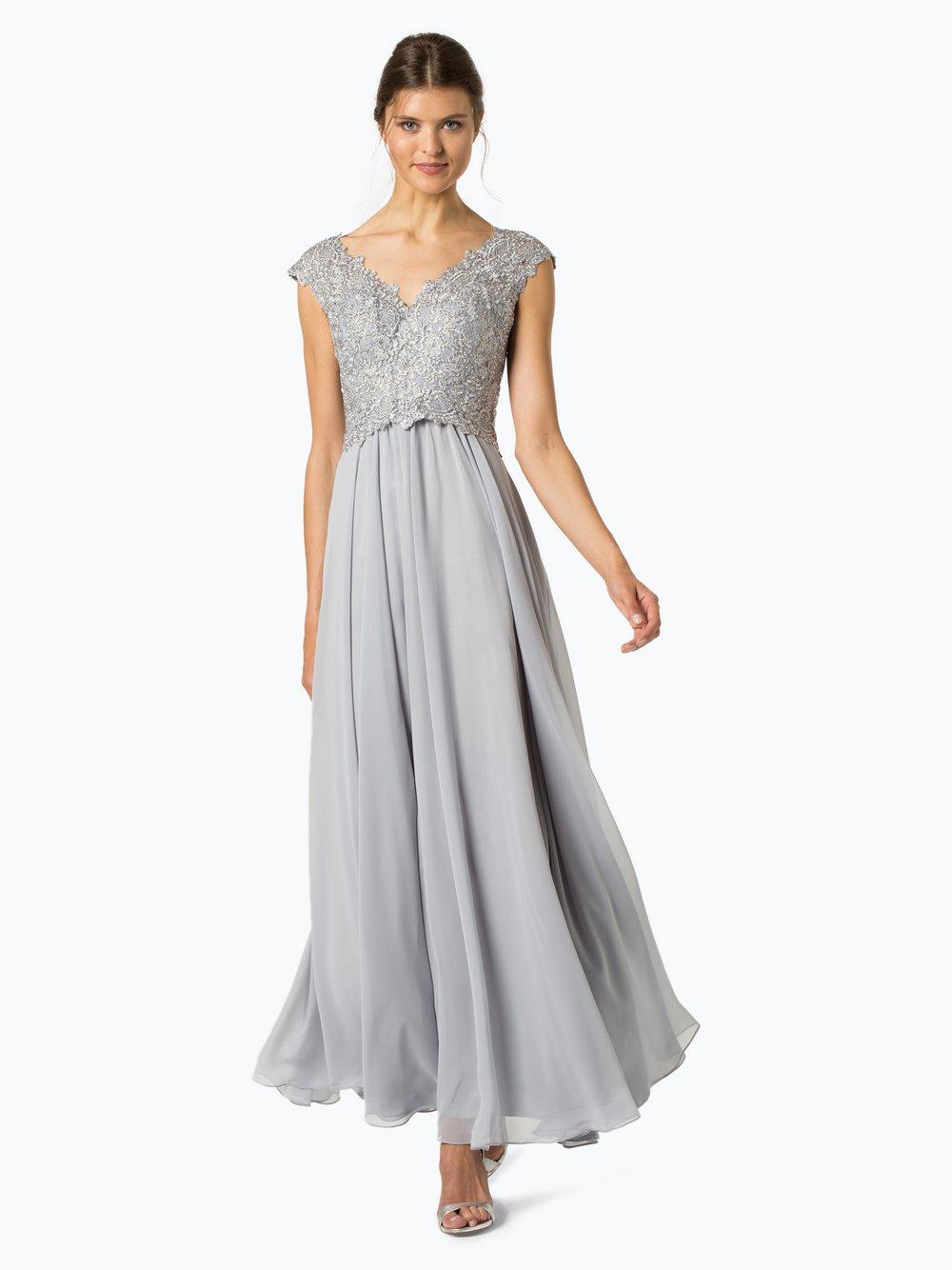 Luxuar Fashion – Damska sukienka wieczorowa, szary Van Graaf 419453-0001-00360