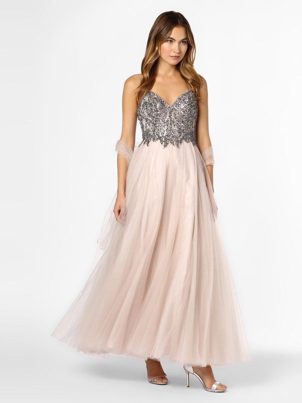Unique – Damska sukienka wieczorowa z etolą, beżowy Van Graaf 419646-0004-00340