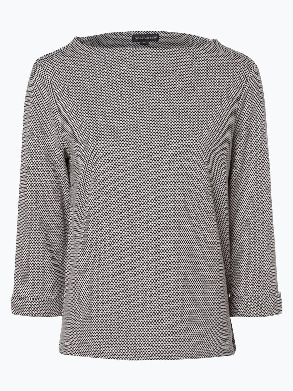 Franco Callegari – Damska bluza nierozpinana, niebieski Van Graaf 421132-0005
