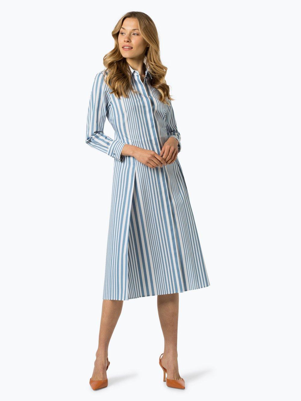 BOSS - Sukienka damska – Debrana, niebieski