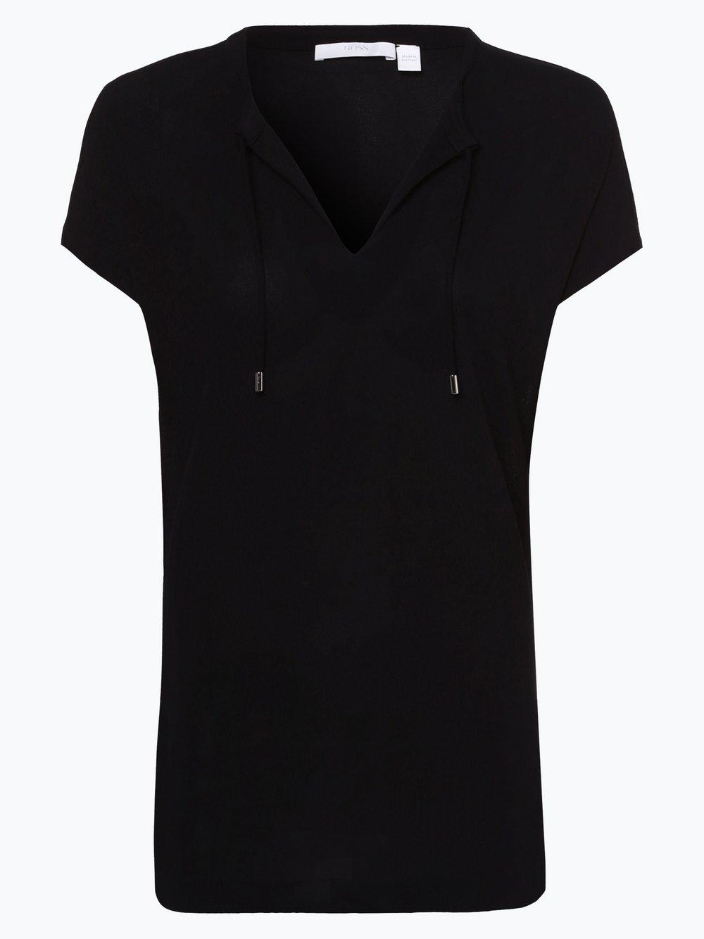 BOSS - T-shirt damski – Ediele, niebieski