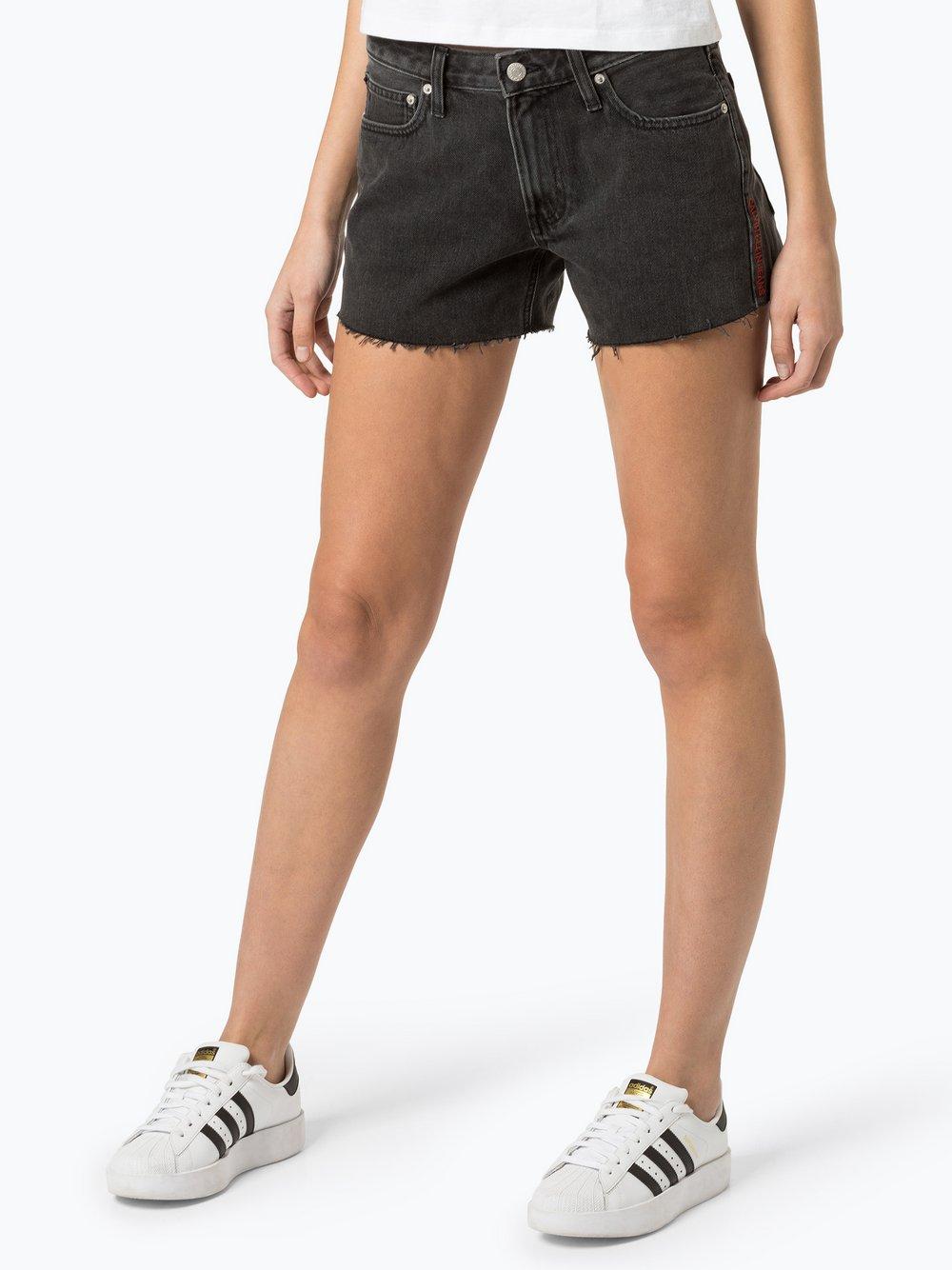 Calvin Klein Jeans - Damskie krótkie spodenki jeansowe, szary