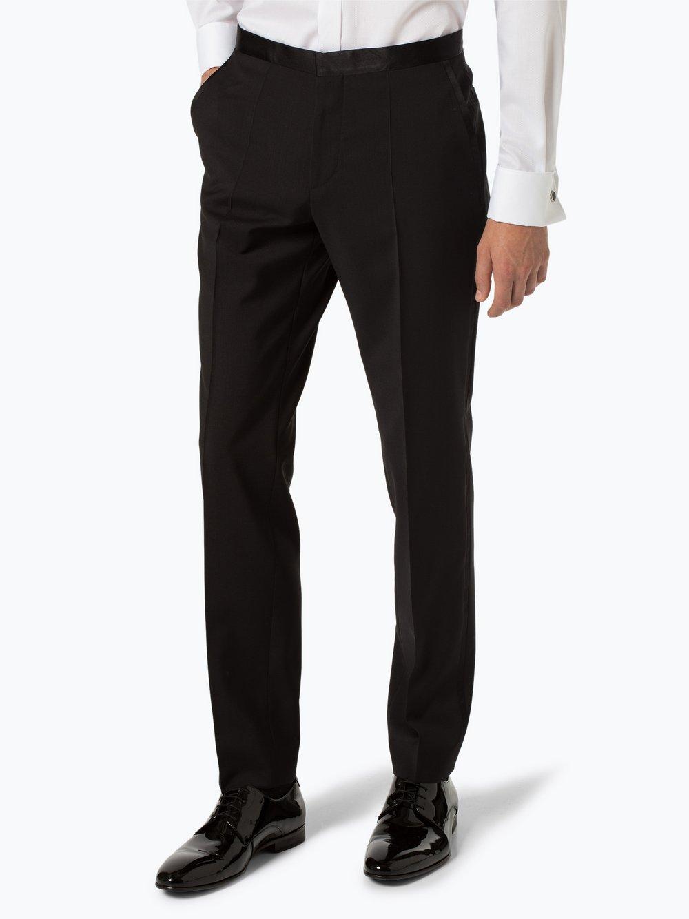 HUGO - Męskie spodnie od garnituru modułowego – Simmons183E, czarny