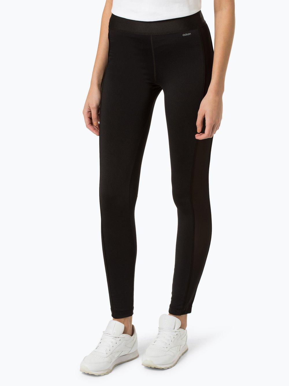 HUGO - Sportowe legginsy damskie, czarny