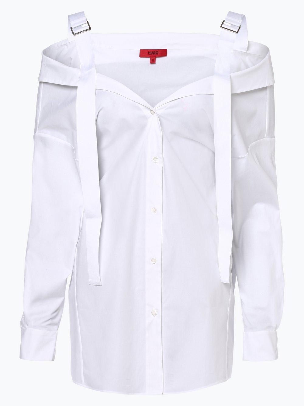 HUGO - Bluzka damska – Eutasia, biały