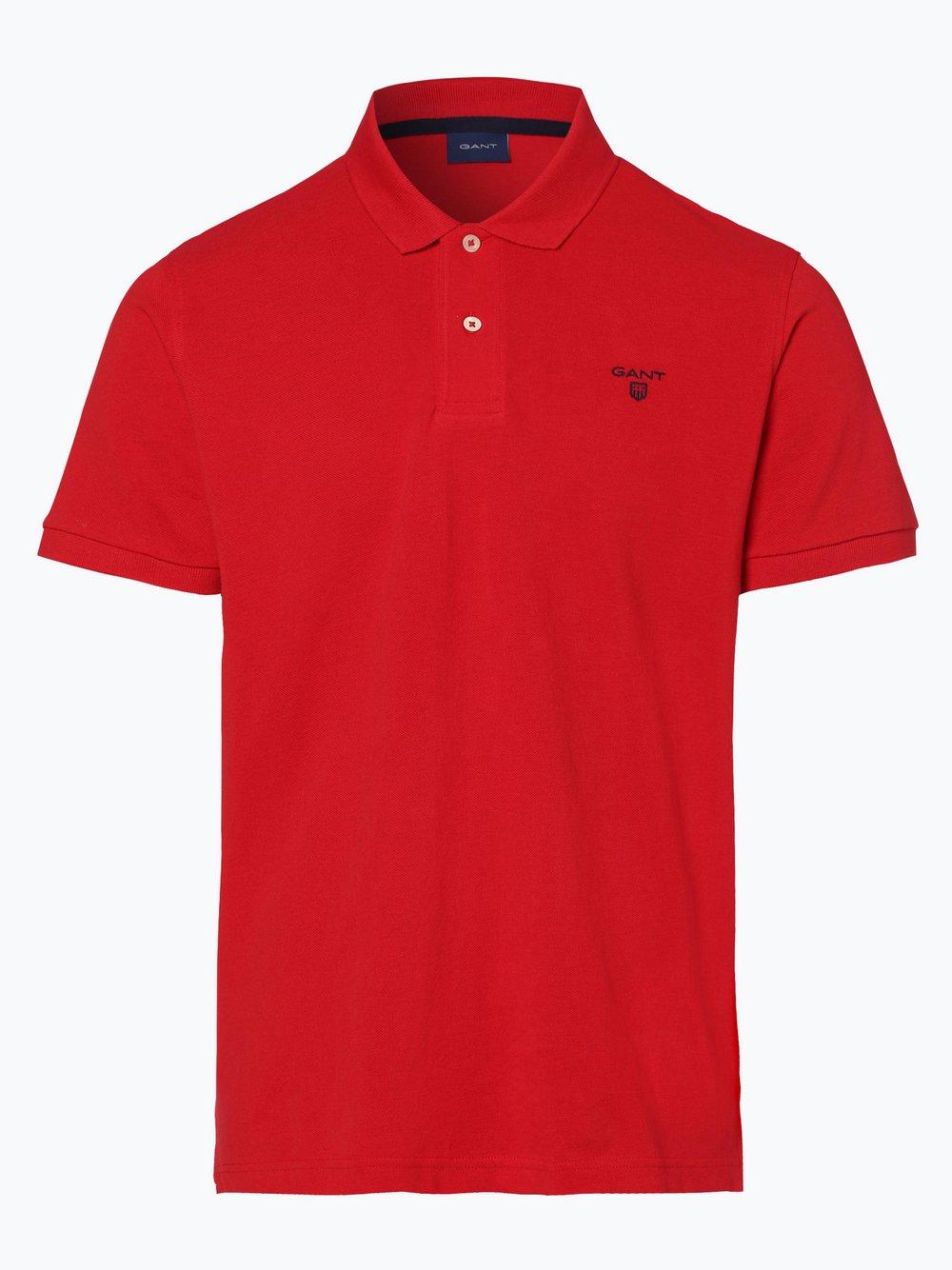 Gant - Męska koszulka polo, czerwony