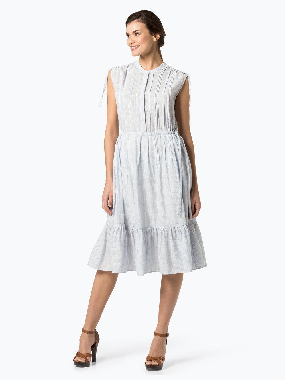 STEFFEN SCHRAUT – Sukienka damska z domieszką lnu, niebieski Van Graaf 424382-0001