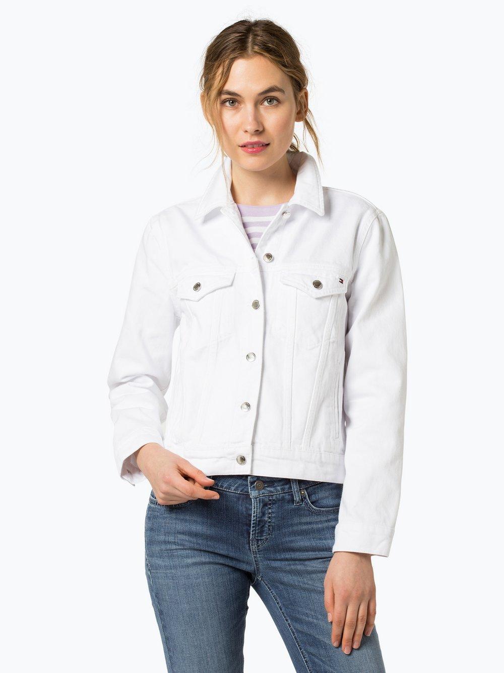 Tommy Hilfiger - Damska kurtka jeansowa – Veronica, biały