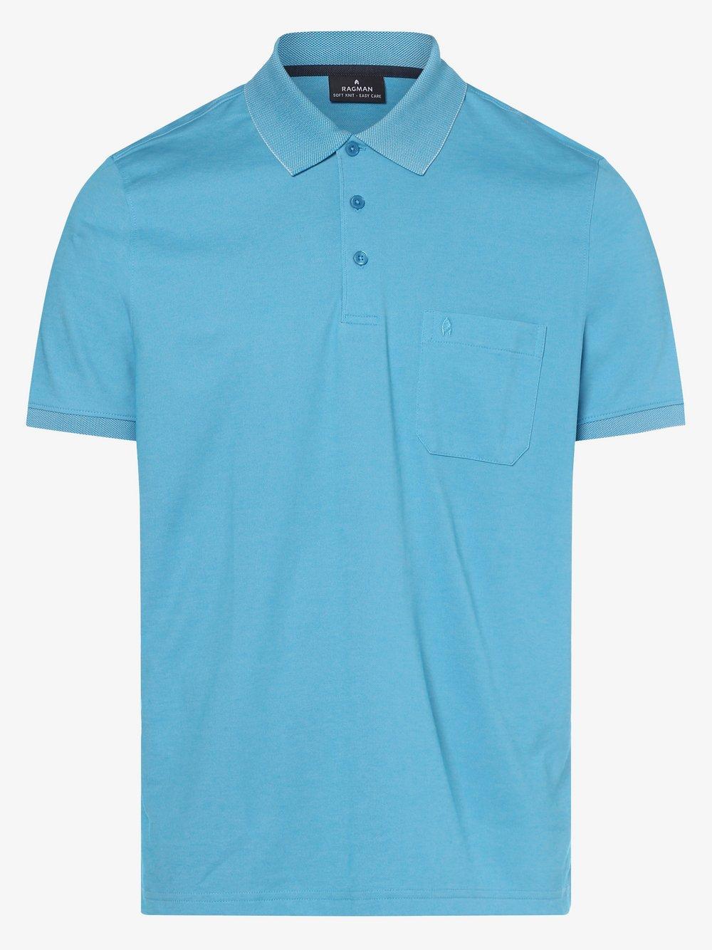 Ragman – Męska koszulka polo, niebieski Van Graaf 426506-0025-09920