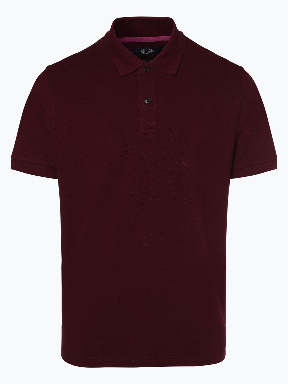 Mc Earl - Męska koszulka polo, czerwony