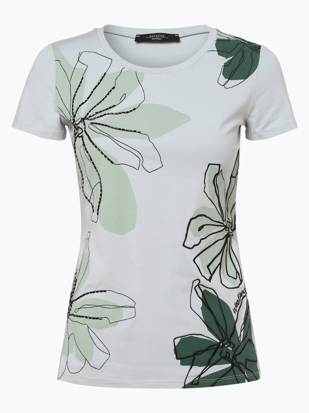 Weekend Max Mara - T-shirt damski, zielony Weekend Max Mara