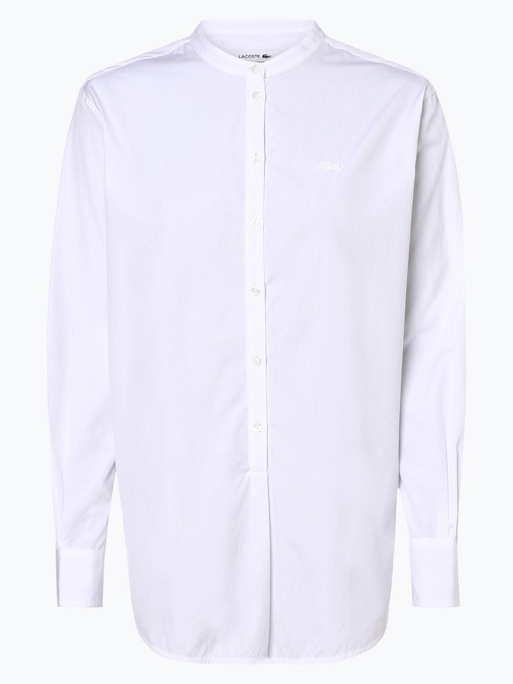 Lacoste - Bluzka damska, biały