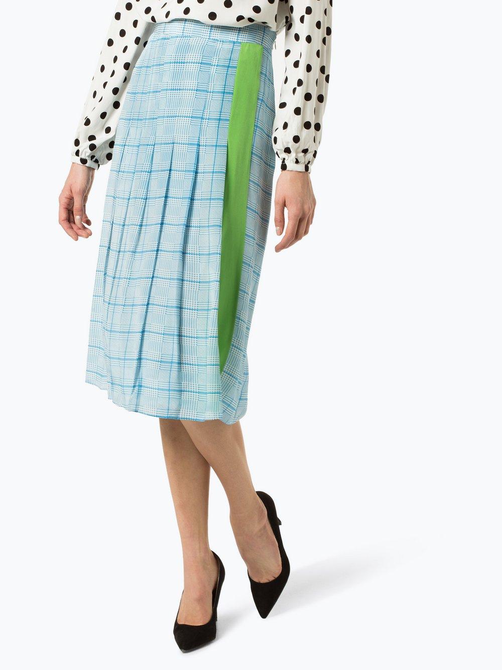 Essentiel Antwerp – Spódnica damska z jedwabiu, niebieski Van Graaf 428831-0001-00380
