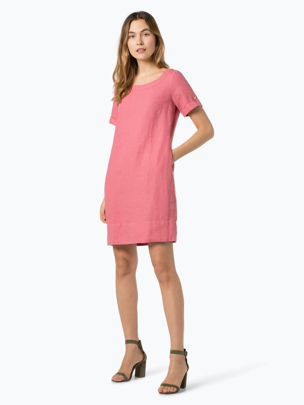 Obraz przedstawiający 0039 Italy - Lniana sukienka damska, różowy