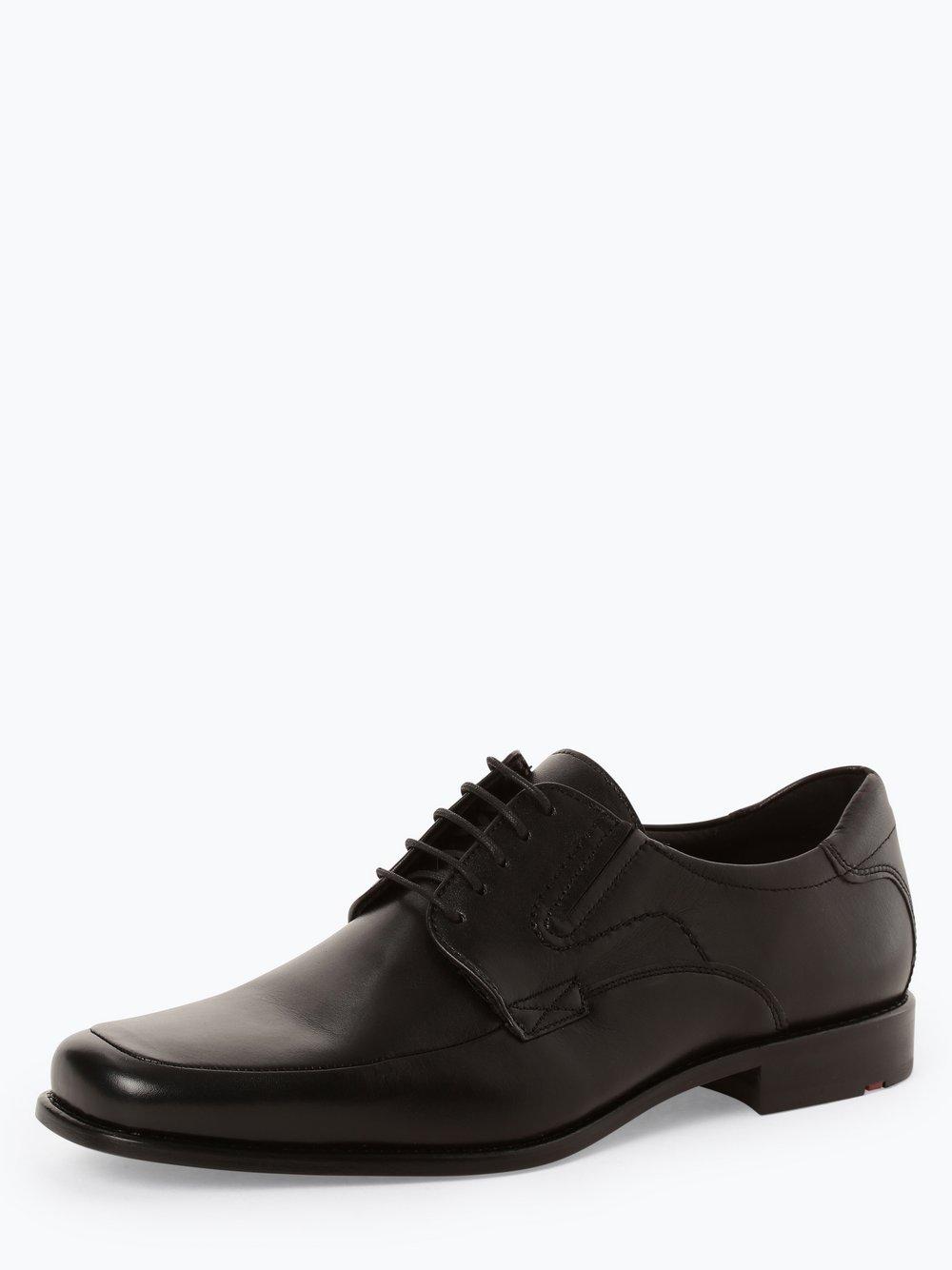 Lloyd – Męskie buty sznurowane ze skóry – Kelton, czarny Van Graaf 429360-0001-00105