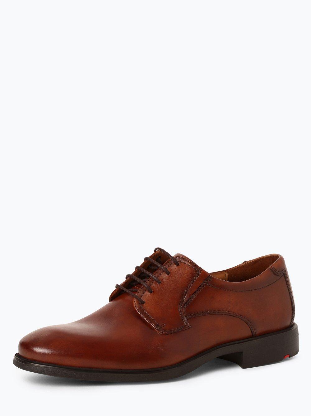 Lloyd – Męskie buty sznurowane ze skóry – Kentucky, beżowy Van Graaf 429362-0001-00105