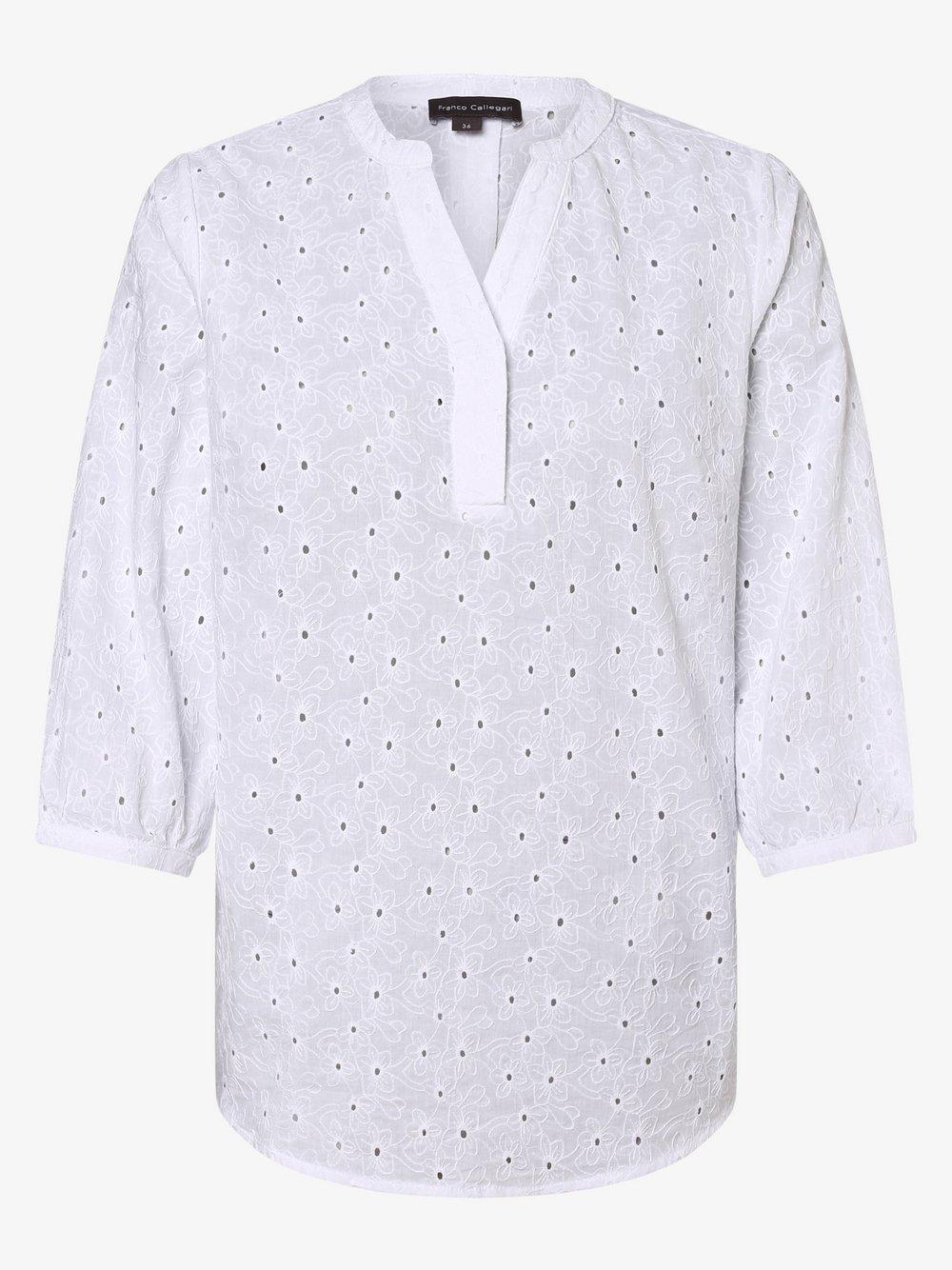 Franco Callegari – Bluzka damska, biały Van Graaf 430254-0010-00420