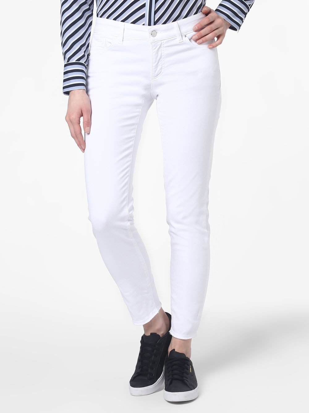 RAFFAELLO ROSSI – Spodnie damskie – Jane Hem, biały Van Graaf 430357-0003-00360