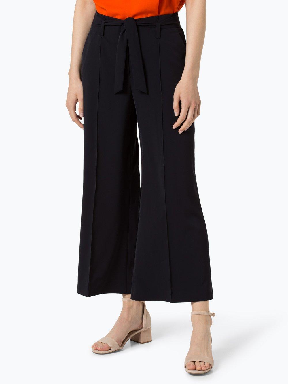 RAFFAELLO ROSSI – Spodnie damskie – Agatha cropped, niebieski Van Graaf 430367-0001-00400