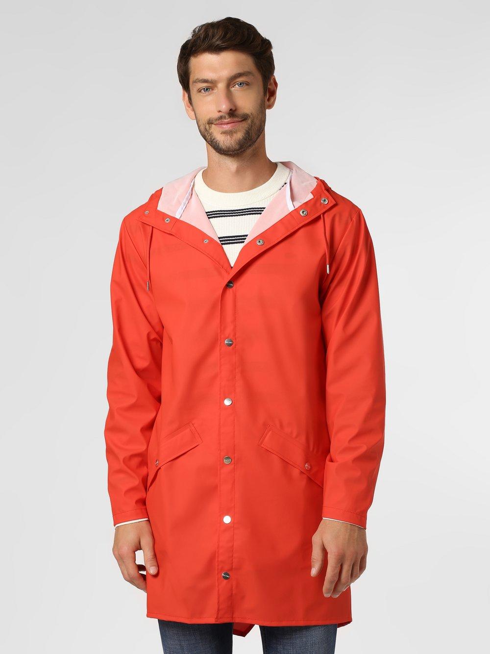 RAINS - Męski płaszcz funkcyjny, czerwony