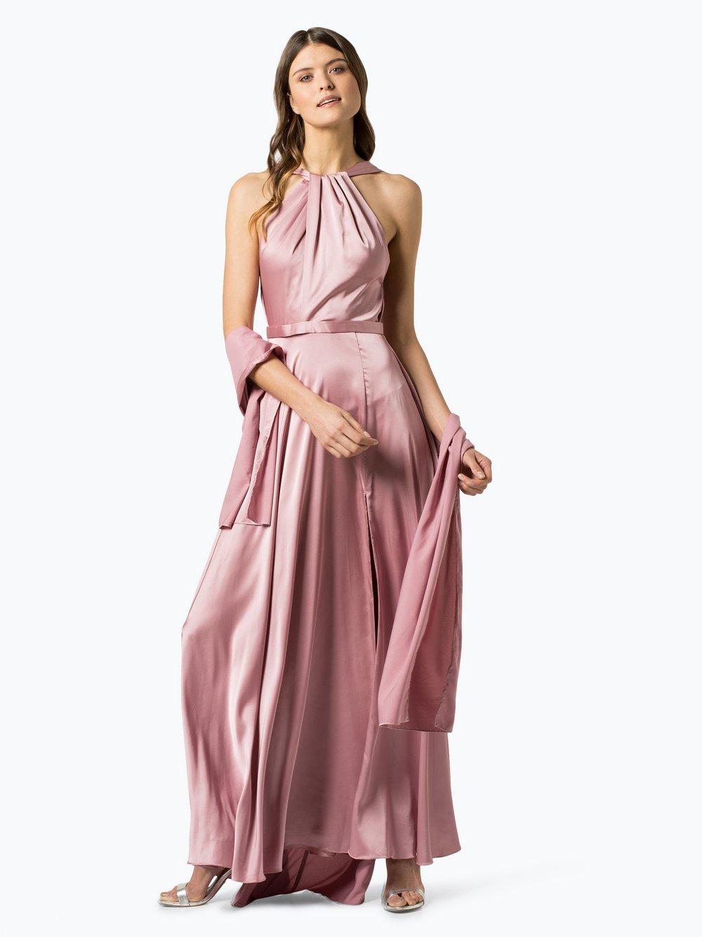 Unique – Damska sukienka wieczorowa z etolą, różowy Van Graaf 432616-0002-00380