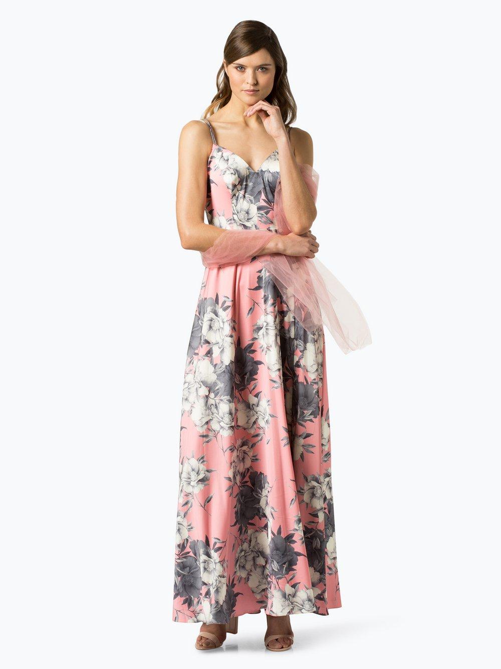 Unique – Damska sukienka wieczorowa z etolą, różowy Van Graaf 432617-0001-00340