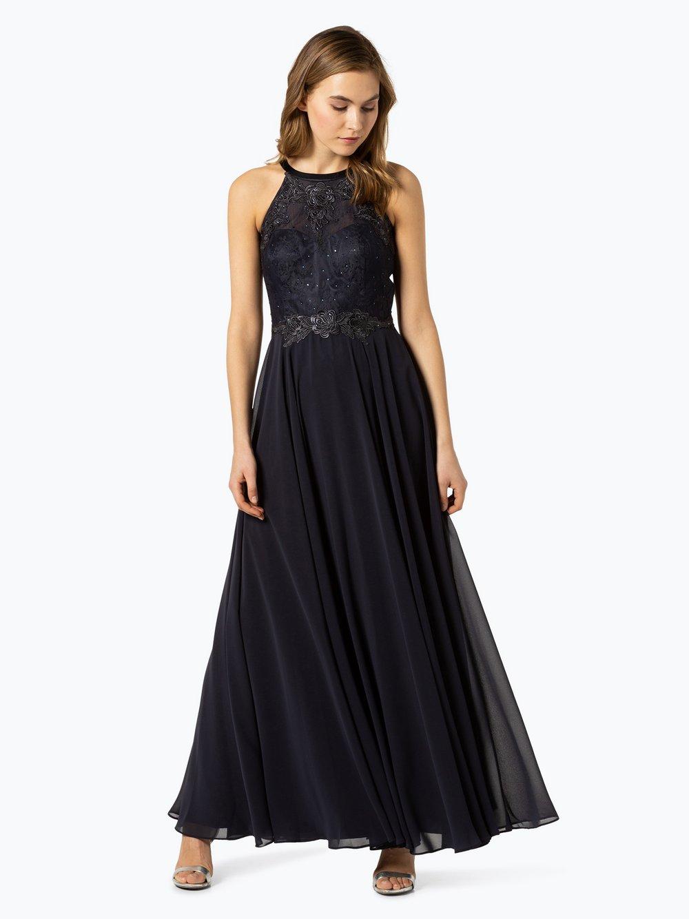 VM – Damska sukienka wieczorowa, niebieski Van Graaf 432968-0002-00360